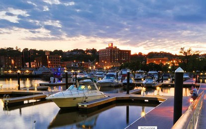 One reason to consider independent living in Dubuque, Iowa is the picturesque waterfront downtown.