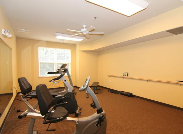 One social activity to do at Burr Oaks Retirement Community in Madison, WI is to go to the fitness center.