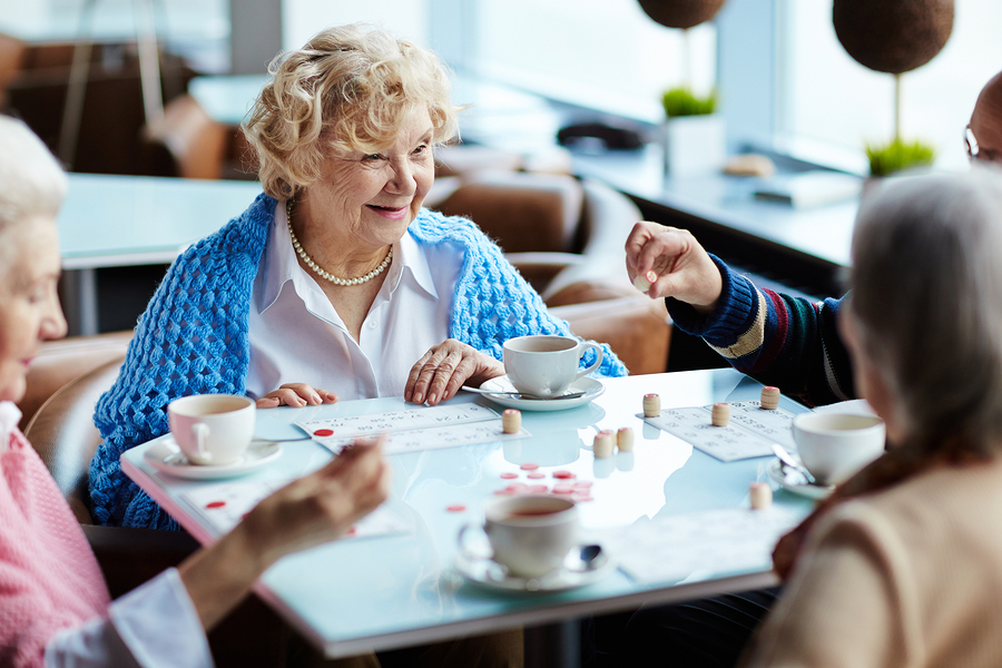 One way to make new friends at Granville Heights Senior Living Community in Milwaukee, WI is to attend daily Bingo or crafts events